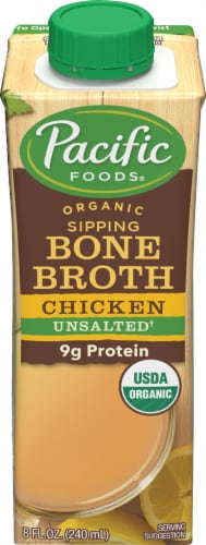 Pacific Organic Original Chicken Bone Broth Perspective: front