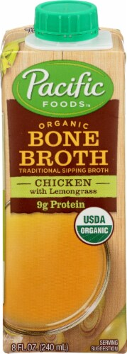 Pacific Foods Organic Chicken with Lemongrass Bone Broth Perspective: front