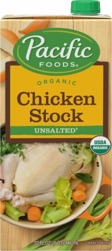 Pacific Organic Unsalted Chicken Stock Perspective: front