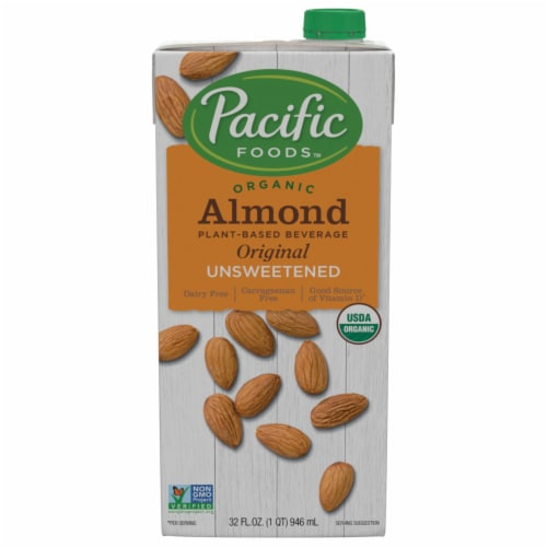 Pacific Unsweetened Almond Milk Beverage Perspective: front