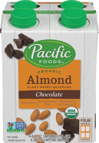 Pacific Organic Chocolate Almond Non Dairy Beverage Perspective: front