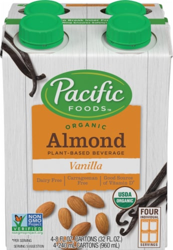Pacific Organic Vanilla Almond Beverage Perspective: front
