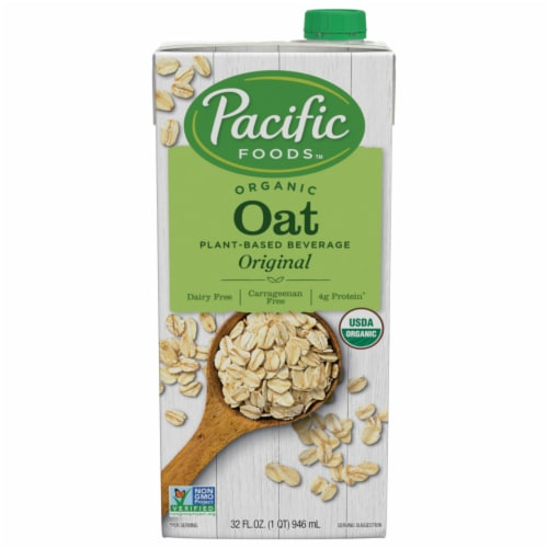 Pacific Organic Oat Beverage Perspective: front