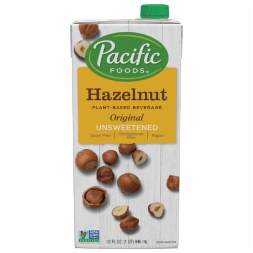 Pacific Unsweetened Original Hazelnut Plant-Based Beverage Perspective: front