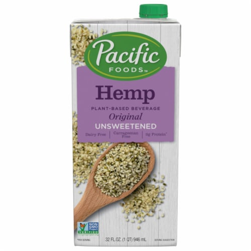 Pacific Original Unsweetened Hemp Non-Dairy Beverage Perspective: front