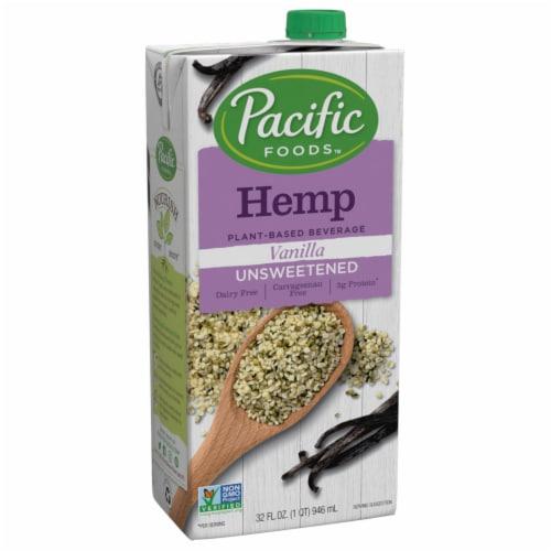 Pacific Unsweetened Vanilla Non-Dairy Hemp Beverage Perspective: front