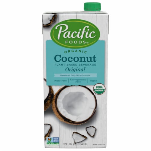 Pacific Foods Organic Original Sweetened Coconut Non-Dairy Beverage Perspective: front