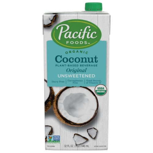 Pacific Organic Coconut Non Dairy Beverage Unsweetened Perspective: front