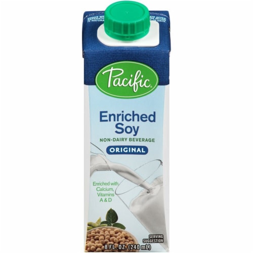 Pacific Foods Original Enriched Soy Non-Dairy Beverage Perspective: front
