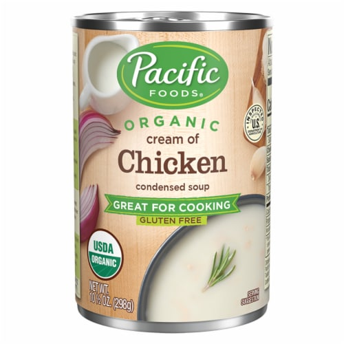 Pacific Organic Cream of Chicken Condensed Soup Perspective: front