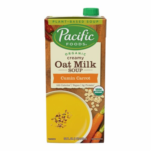 Pacific Foods Organic Oat Milk Cumin Carrot Soup Perspective: front