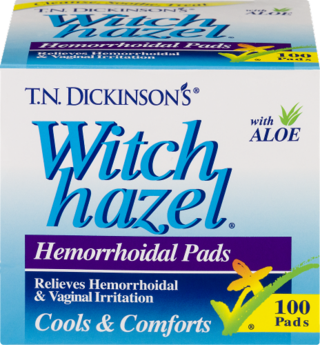 T.N. Dickinson's Witch Hazel Hemorrhoidal Pads Perspective: front