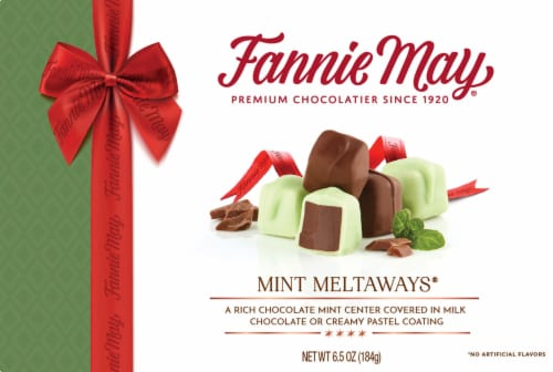 Fannie May Mint Meltaways Mint Milk Chocolate Perspective: front