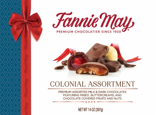 Fannie May Colonial Assortment Candy Perspective: front