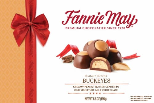 Fannie May Buckeyes Chocolate Candy Perspective: front