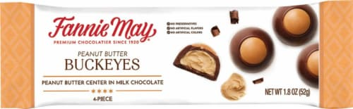 Fanny May Buckeyes Chocolate Bar Perspective: front