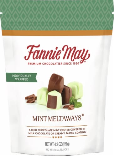 Fannie May Mint Meltaways Chocolates Perspective: front