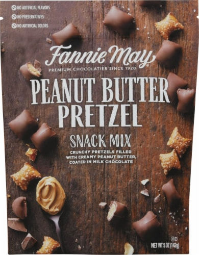Fannie May Peanut Butter Pretzel Snack Mix Perspective: front