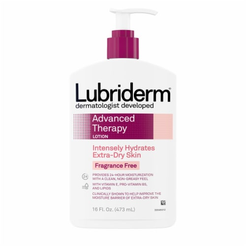 Lubriderm Advanced Therapy Skin Lotion Perspective: front