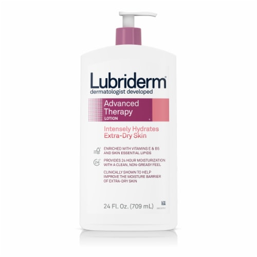 Lubriderm Advanced Therapy Extra Dry Skin Moisturizing Lotion Perspective: front
