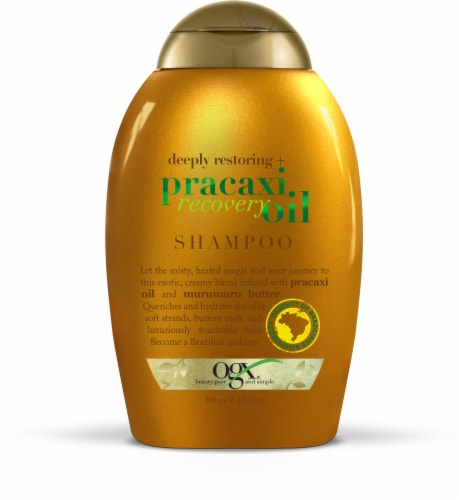 OGX Deeply Restoring + Pracaxi Recovery Oil Shampoo Perspective: front
