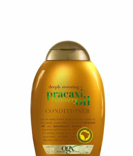 OGX Deeply Restoring + Pracaxi Recovery Oil Conditioner Perspective: front