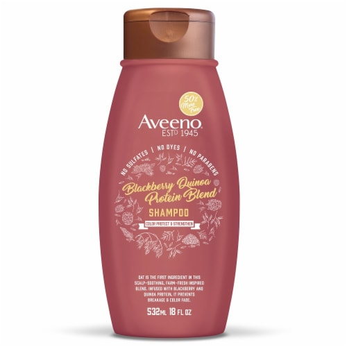 Aveeno® Blackberry Quinoa Protein Blend Shampoo Perspective: front