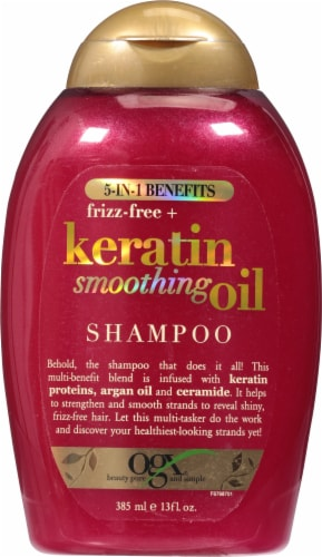 OGX Keratin Smoothing Oil Shampoo Perspective: front