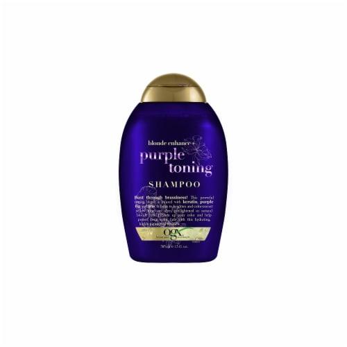 OGX Blonde Enhance + Purple Toning Shampoo Perspective: front