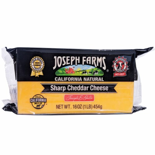Joseph Farms Sharp Cheddar Cheese Perspective: front