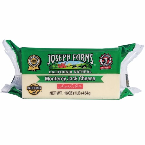 Joseph Farms Monterery Jack Cheese Perspective: front