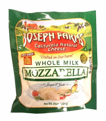 Joseph Farms Whole Milk Mozzarella Ball Perspective: front