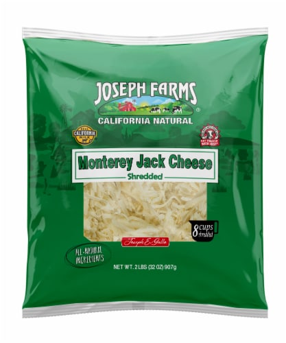 Joseph Farms Shredded Monterey Jack Cheese Perspective: front