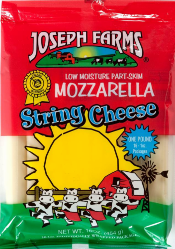 Joseph Farms String Cheese Perspective: front