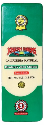 Joseph Farms Monterey Jack Cheese Perspective: front