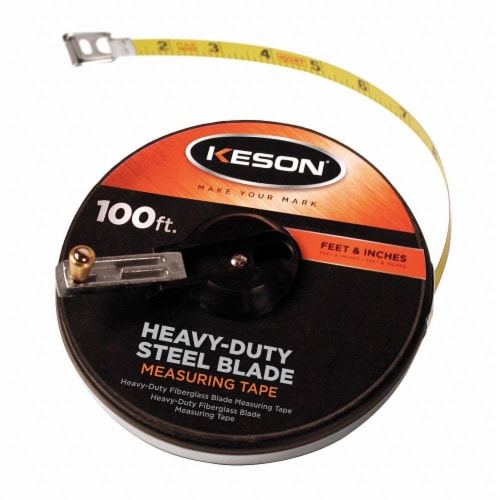 Keson Long Tape Measure,3/8 In x 100 ft,Orange HAWA Perspective: front