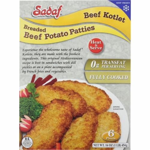 Sadaf Breaded Beef Potato Patties Perspective: front