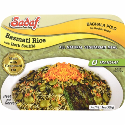 Sadaf Basmati Rice with Herb Souffle Perspective: front