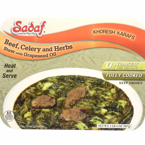 Sadaf Beef Celery and Herbs Stew with Grapeseed Oil Perspective: front