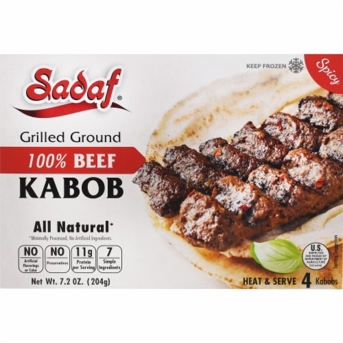 Sadaf 100% Beef Kabobs Perspective: front