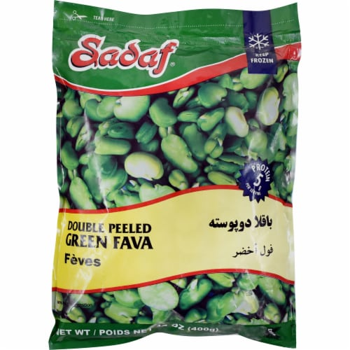 Sadaf Double Peeled Green Fava Perspective: front