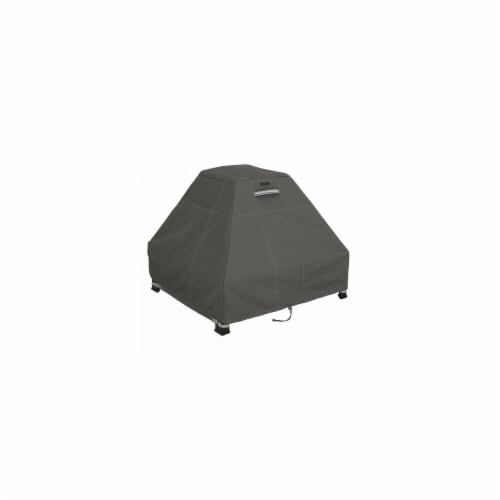 Classic Accessories 55-183-015101-EC STANDUP FIRE PIT COVER TAUPE - 1SZ - Perspective: front