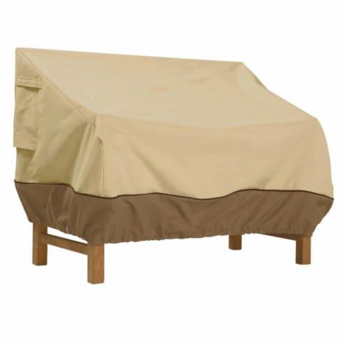 Classic Accessories 55-649-021501-00 Veranda Small Deep Sofa Loveseat Cover Pebble - Small Perspective: front