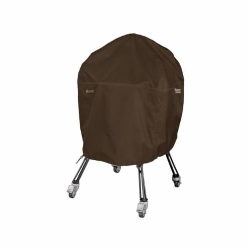 Classic Accessories 55-730-056601-RT Extra Large Ceramic Grill Cover, Dark Cocoa Perspective: front