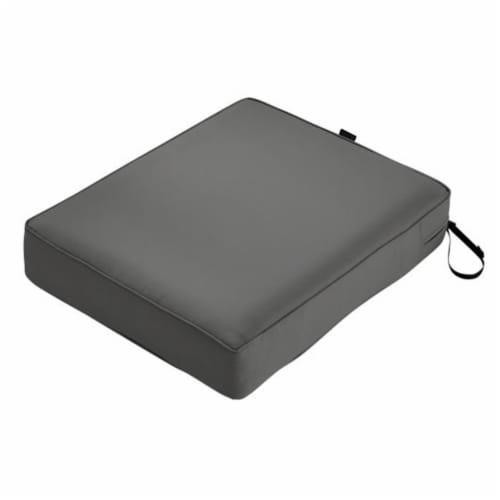 Classic Accessories 62-021-LCHARC-EC Montlake Rectangular Patio Lounge Seat Cushion, Charcoal Perspective: front