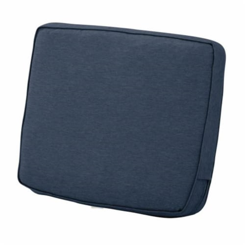 Classic Accessories 62-026-INDIGO-EC Montlake FadeSafe Patio Lounge Back Cushion, Heather Ind Perspective: front