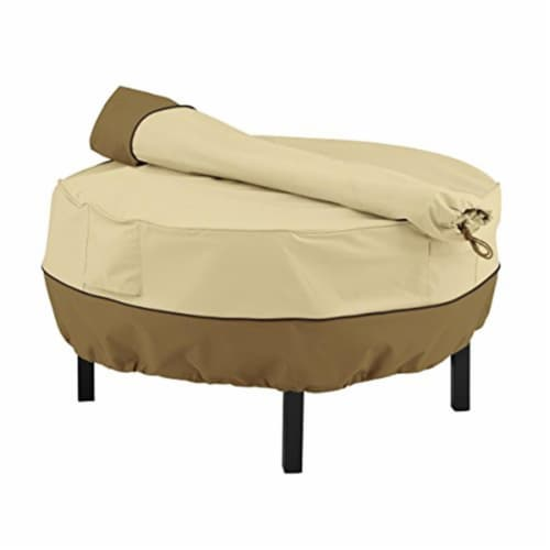 Classic Accessories 55-879-011501-00 31 in. Cowboy Fire Pit Grill Cover  Pebble Perspective: front