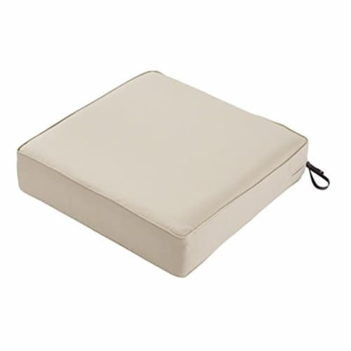 Classic Accessories 62-035-BEIGE-EC 5 x 21 x 21 in. Seat Cushion Combo - Beige Perspective: front