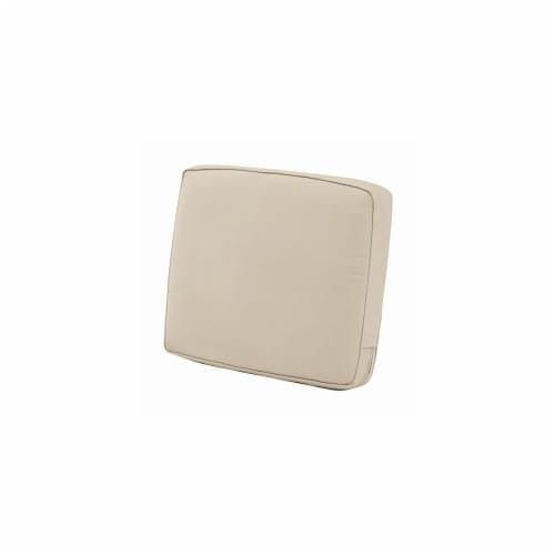 Classic Accessories 62-039-BEIGE-EC 4 x 21 x 22 in. Back Cushion Combo - Beige Perspective: front