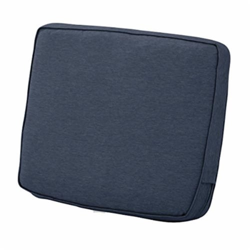 Classic Accessories 62-039-INDIGO-EC 4 x 21 x 22 in. Back Cushion Combo - Indigo Perspective: front
